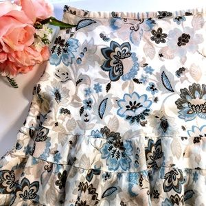 Ann Taylor Linen Floral Skirt size 12
